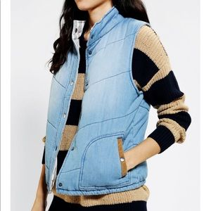 Urban outfitters by CORPUS denim puffer vest